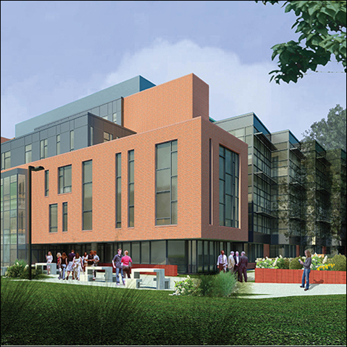 Drawing of Fenwick Library renovation