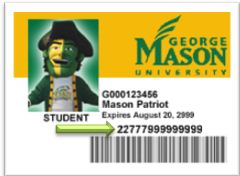 image of a Mason ID with the barcode highlighted