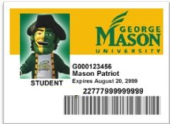 image of a Mason ID with barcode