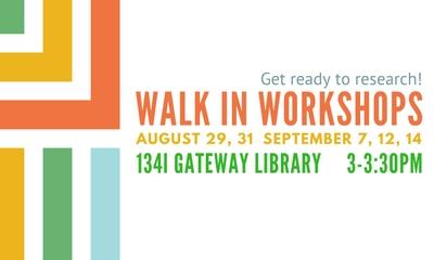 Walk in workshops